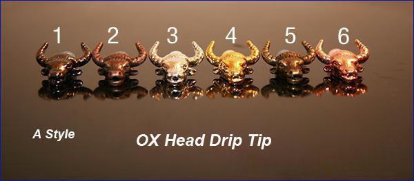 TOP Quality 510 Metal Drip Tip Ox Dragon Head Shape Drip Tips fashion style Mouthpiece for CE4 CE5 VIVIV NOVA EE2 DCT Electronic Cigarette
