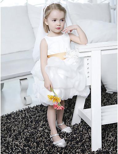 Christmas Lovely White Chiffon Flower Girl's Dress Girl's Pageant Dresses Girls' Party Dress Birthday Dress Custom SZ 2-12 RF1226254