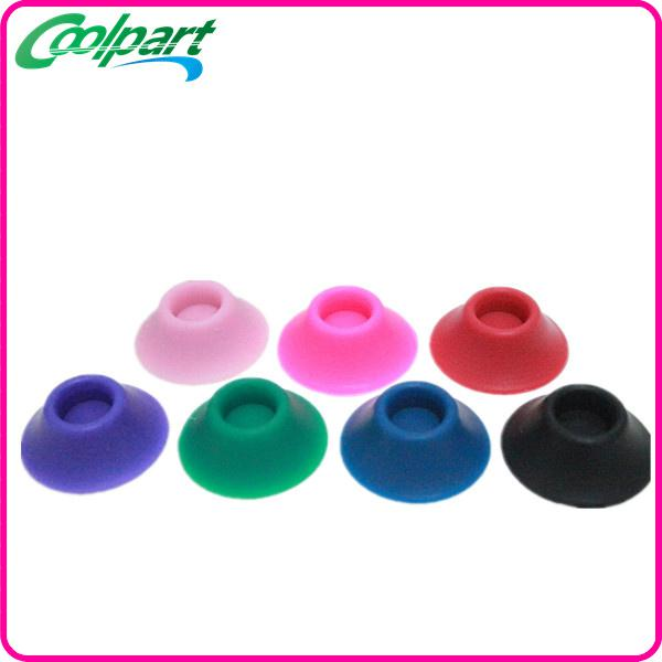 ego silicone sucker battery base for holding ego ego-t electronic cigarettes with many colors available e cigarette atomizer sucker
