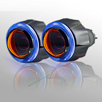 "Wholesale Bixenon Projector Lens - 3"" inch angel eye ring-bixenon projector lens light hid xenon kit whti Devil eyes"