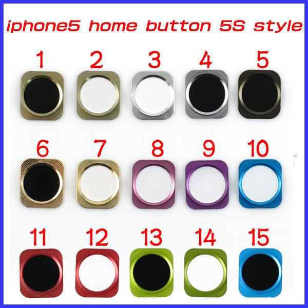 Iphone 6 Home Button Design Part - 39: For Iphone 5 Iphone5 Home Button Key With Metal Ring Look Like Iphone 5s  Design Style Dhl Ems MoqOther Cell Phone Parts Cell Phones Parts From ...