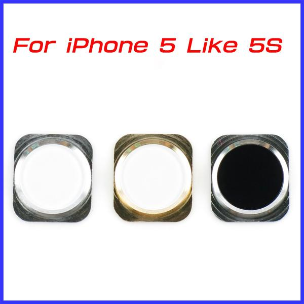 Superior For IPhone 5 Colorful Home Button Key With Metal Ring IPhone 5S Design  Style Navigator 15 Colors 30 Pcs/lot