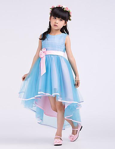 Christmas Lovely Blue Tulle Flower Girl's Dress Girl's Pageant Dresses Girls' Party Dress Birthday Dress Custom SZ 2-12 RF1226314