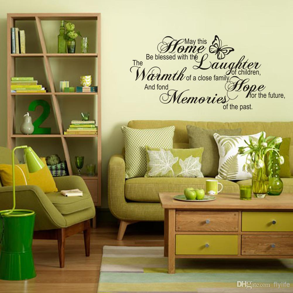 Home Laughter Warmth Hope Memories Wall Stickers Home Decor Diy