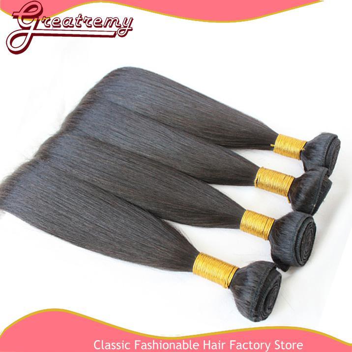 100 % 중국 머리카락 3 사슬 Remi 인간의 머리 직조 스트레이트 자연 색상 저렴한 중국어 머리 Greatremy 드롭 배송
