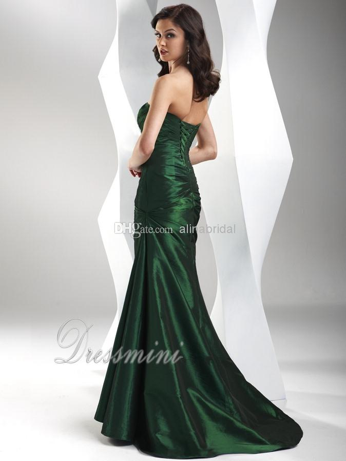 Cheap New 2018 Evening Dresses Sweetheart Mermaid Long Sweep Train Ruffle Lace up Women's Elegant Formal Gowns Custom Made