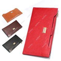 Wholesale Credit Card Long Slim Holder - S5Q Womens Mens Soft Leather Zipper Long Bifold Wallet Slim Purse Credit Card Holder AAACVH