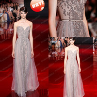 Wholesale Elie Saab Actual - Wholesale 2014 Elie Saab Actual Image Sweetheart A-Line With Beading and Sash Floor-Length Backless Tulle Pageant Dress Evening Dress DH144