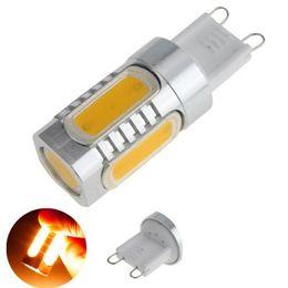 Wholesale G9 Led Cold White - High power LED Light 110v-240v Aluminum G9 7w COB Chip SMD LED Warm Pure Cold White Light Bulb Lamp 700LM 360 Degrees LED Bulb Light