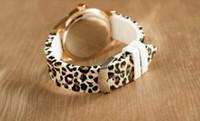 Wholesale Leopard Print Wrist Watches - Free shipping 10pcs lot Fashion Women Quartz Watch Geneva Ladies Wrist Watches Leopard Print Ladies Designer Brand Watches Luxury Watch Wris