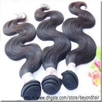 Wholesale Brazilian Body Wave Hair 12 - 3pcs lot 12''to34'' Mixed size AAAAA grade machine made virgin Brazilian hair extension body wave h