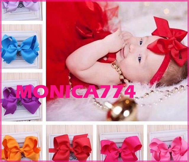 Infant Baby bowtie lace flower headhands toddle fun headwear little gilrs headwear children's hair accessories,MB040