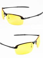 lunette soleil güneş gözlüğü toptan satış-Vintage Lunette De Soleil Satış Yeni Erkek Polarize Sürüş Güneş Gözlüğü Sıcak Satış Marka Sarı Lens Gece Vsion Gözlük Gözlük Parlamada Azaltın