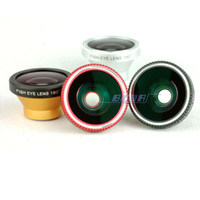 Wholesale Iphone 5g Degree Fish Eye - Magnetic 180 Degree Fisheye Lens Fish Eye Designed for iPhone 4 4S 5 5G 5S 5C iPod Nano 4G iPad Samsung Galaxy S3 S4 Note 2 Note 3
