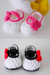 Wholesale Cheap Handmade Clothing - 5%off Baby toddler shoes, Mary Jane shoes, handmade crochet shoes! Cheap shoes! Baby Clothing Wholesale! Two optional!! 6pairs 12pcs