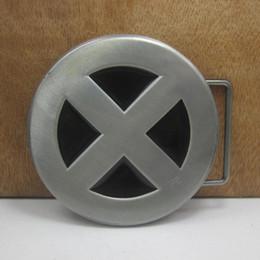 Wholesale Film Animals - BuckleHome X man belt buckle film belt buckle FP-03298 with pewter finish free shipping