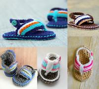 magasin de bébé chaussures achat en gros de-5% de réduction / sandales bébé Crochet! Fif 0 - 12 mois bébé chaussures en tricot! Chaussures pas cher en gros! Vêtements de bébé! Magasin de chaussures! / 6pairs / 12pcs