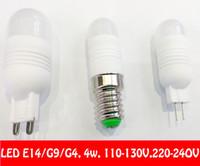 Wholesale Mini Candle Light Bulb - LED chandelier bulbs E14 G9 G4 110V-130V 220V-240V 4W Pendant lamps MINI Ceramic Bulb led light beads 3014 SMD 2014 New Arrival