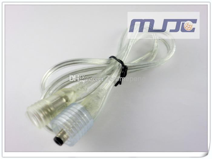 20 UNIDS 100 CM Hombre Mujer de Cristal IP68 Impermeable DC5.5x2.1mm Conectores de Luz de Tira LED Cable de Alimentación Cable de Extensión