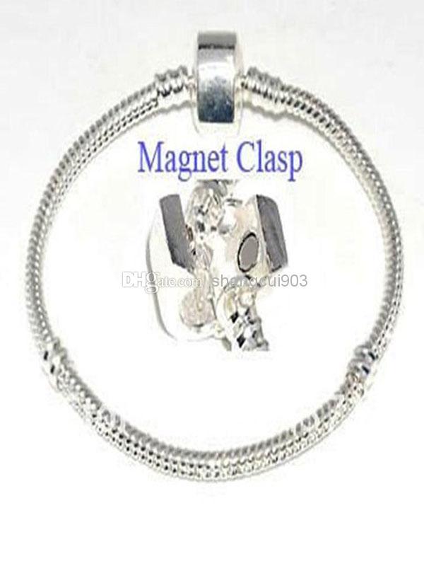 Nytt mode 925 Silver Smycken Snake Kedjor 925 Clasp Vogue Fashion Armband 3mm 6-9Inch Blandad Beställ Gratis Frakt 100 st