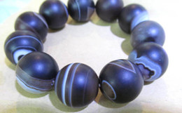 Wholesale Vein Agate Beads - larger 20mm 8-9inch genuine agate gemstone round ball brown crab veins jewelry beads bracelet