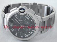 Wholesale Pasha Bracelet - Luxury Brand New In Box AAA Quality Pasha Stainless Steel Bracelet Chronograph Quartz Mens Watch Black Men's Sports Wrist Watches W6920025