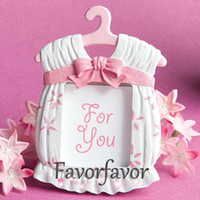 Wholesale Chinese Sexy Photos - FREE SHIPPING+100PCS LOT!!Cute and Lovely Baby Cloth Photo Frame Favors (Girl Boy), Place Card Holder Favors, Baby Shower
