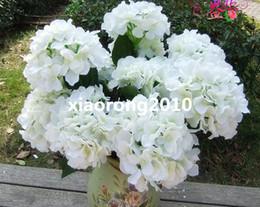 Discount silk hydrangea wedding centerpieces - Artificial Silk Hydrangea Flowers Simulation Hydrangeas 7 Stems per Bush for Home Decoration Wedding Centerpieces Flower