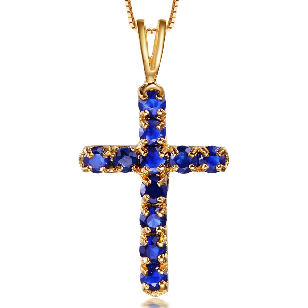 2018 luxury blue sapphire high quality 18k gold pendant large stone 2018 luxury blue sapphire high quality 18k gold pendant large stone cross pendant from gvbori 31003 dhgate aloadofball Image collections