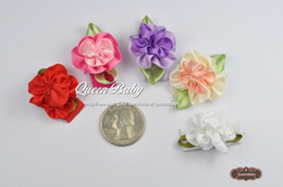 Wholesale Flower Girl Barrettes - Trial Order Infant Hair Clip Mini Flower Snap Clip Baby Girl Snap Clip for Toddlers and Children 100pcs LOT QueenBaby