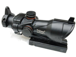 Wholesale Sighting Scope - New ACOG Type 1x32 Red Green Dot Sight Scope With QD Mount for aimpoint hunting Rifle Scope
