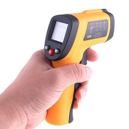temperature laser sensor 2019 - 120Pcs Lot GM380 Non-Contact Infrared Digital IR Thermometer Laser Point