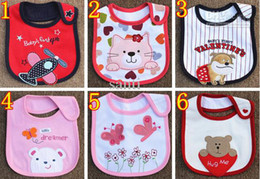 Wholesale Dot Stripe Baby - Infant saliva towels three layer Baby Waterproof bibs Baby wear accessories 81 styles