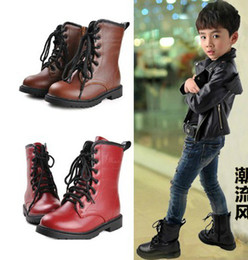 Wholesale 18 Snow - Top Winter Children Boots Male Female Snow Boots Waterproof Gaotong Martin Boots 26-37