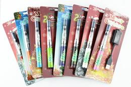 Wholesale Ego Ce4 Sets - Merry Christmas Kit ego kit ce4 starter kit Ego Clear Cartomizer blister card packing battery 650mah 900mah 1100mah Electronic Cigarette