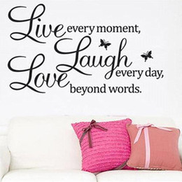 Wholesale Live Laugh Love Wall - S5Q DIY Live Laugh Love Quote Vinyl Decal Removable Art Wall Stickers Home Decor AAABPY