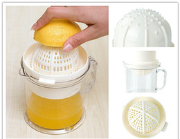 Wholesale Lemon Squeezer Free Shipping - New Multi Manually Fruits Juicer 400 ml Capacity Orange Lemon Squeezer Machine Baby Supplies Free SHIPPING