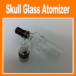 Wholesale Electronic Cigarette Solid - Skull Glass Tank Atomizer Dry Herb Vaporizer Solid Smoke Oil Detachable Clearomizer For eGo Electronic Cigarette (0203047)