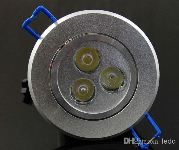 3W Dimmable LED Downlights de techo 3x1W Iluminación empotrada Alta potencia Watts CE ROSH Lámpara blanca cálida / fría 2 Yars Garantía MOQ30