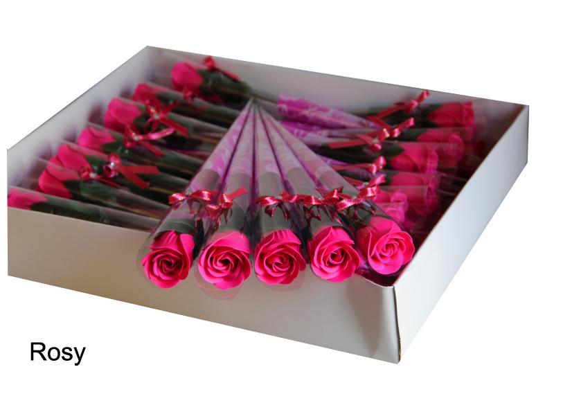 クリエイティブ5色バラの花美しい石鹸の花の風呂紙の紙吹雪バレンタインギフトクラフト
