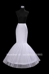 China Free shipping Mermaid Petticoat slip 1 Hoop Bone Elastic Wedding Dress Crinoline Trumpet Hot sale supplier crinoline dresses sale suppliers