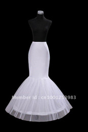 Wholesale Dress Bone Hoop - Free shipping Mermaid Petticoat slip 1 Hoop Bone Elastic Wedding Dress Crinoline Trumpet Hot sale