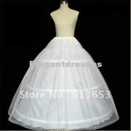hoop petticoat ivory Coupons - NEW Petticoat Crinoline 3-Hoop-1Layer BRIDAL dress PETTICOAT CRINOLINE UNDERSKIRT Bridal Accessories