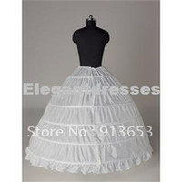 Wholesale Wedding Hoops Petticoats - Hot sale Newest Gorgeous White 6 HOOP PETTICOAT crinoline SLIP Underskirt BRIDAL WEDDING dress Hot Sale!