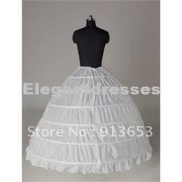 Ingrosso Vendita calda più nuovo splendido bianco 6 HOOP PETTICOAT crinolina SLIP Underskirt BRIDAL WEDDING dress Vendita calda!