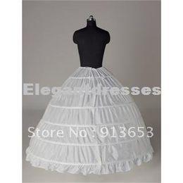 Vente chaude Date magnifique magnifique blanc 6 HOOP PETTICOAT crinoline SLIP robe jupe jupe robe de mariée mariage Vente chaude!