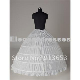 Wholesale Dress Petticoat Underskirt Crinoline Wedding - Hot sale Newest Gorgeous White 6 HOOP PETTICOAT crinoline SLIP Underskirt BRIDAL WEDDING dress Hot Sale!