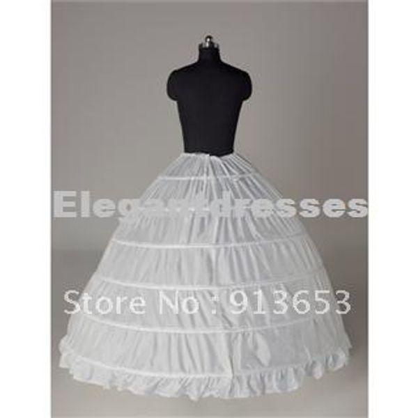 Venta caliente más nuevo blanco precioso 6 HOOP PETTICOAT crinoline SLIP Underskirt vestido de boda nupcial ¡Venta caliente!