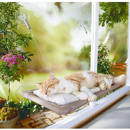 Wholesale Packaging Window Boxes - Hot selling New Window Mount Cat Bed Pet Hammock Sunny Seat Pet Beds With Color Box Package 24set lot free shipping