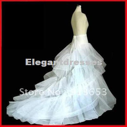 Wholesale wedding gowns free shipping - Free Shipping Best Selling Cheap Unique design new white Wedding Gown Train Petticoat Crinoline Underskirt 3-Layers